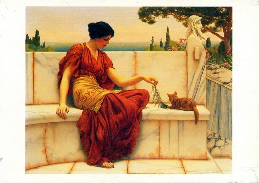 Peinture - La favorite - John William Godward (1861 - 1922)