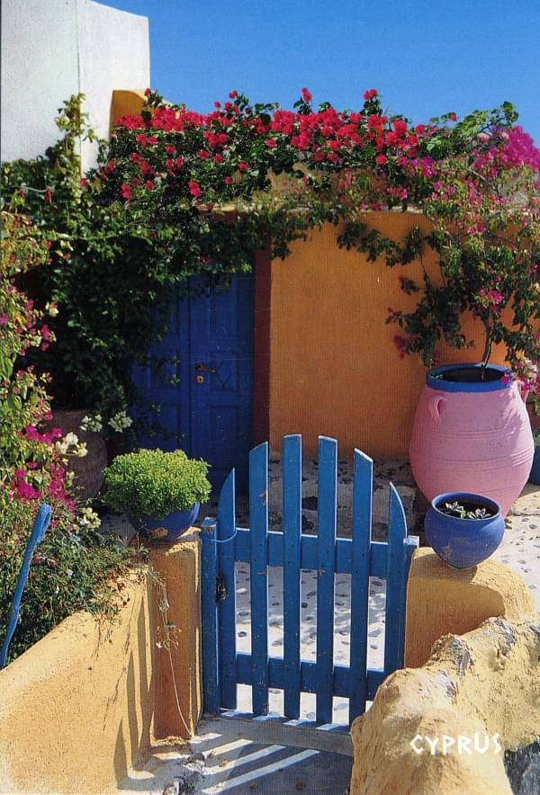 Cartes postales chypre for Entree d une maison