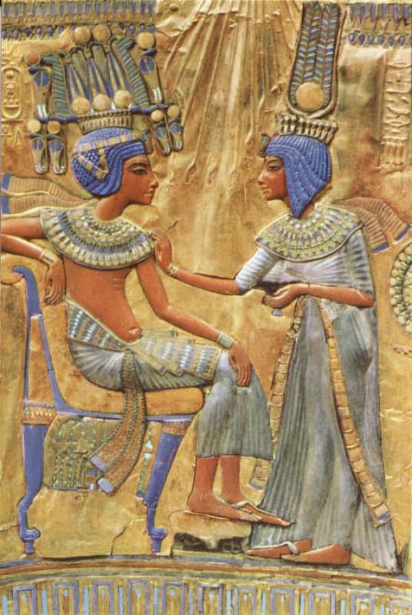 cartes postales du monde toutankamon le roi et la reine